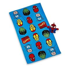 Disney Marvel Heroes Super Heroes Bath Towel and Wash Mitt Set >>> Learn more by visiting the image link.
