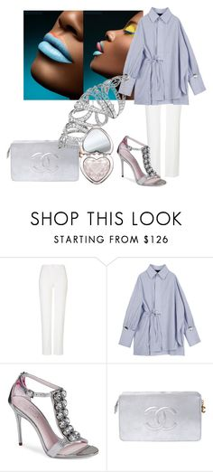 """""""Simply divine"""" by sofiacalo ❤ liked on Polyvore featuring ESCADA, Ted Baker, Chanel and Too Faced Cosmetics"""
