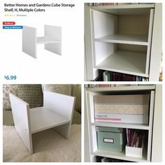 Craft Storage, Bookcase, Shelves, Ikea Kallax, Crafts, Home Decor, Shelving, Manualidades, Decoration Home