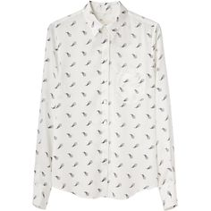 Boy by Band of Outsiders Silk Easy Shirt (12.565 RUB) ❤ liked on Polyvore featuring tops, blouses, shirts, camisas, white silk blouse, white button up blouse, long sleeve shirts, long-sleeve shirt and button up shirts