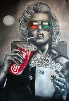 New pop art marilyn monroe drawings 22 ideas Art Beat, Arte Pop, Arte Marilyn Monroe, Marilyn Monroe Painting, Art Plastique, Oeuvre D'art, Coca Cola, Amazing Art, Comic Art