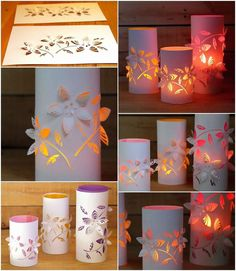 12 DIY hula hoop projects that are fun and fabulous!DIY hula hoop and paper lantern lighting idea.HOME DZINE craft ideas Cute Diy Projects, Diy Crafts For Kids, Paper Crafts Origami, Diy Paper, Cardboard Crafts, Diwali Decorations, Christmas Decorations, Garden Decorations, Urban Deco