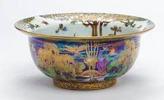 Fairyland Lustre Striped Pants Bowl