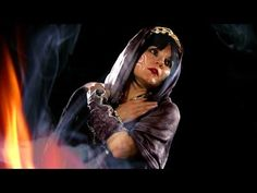 """Voodoo"" belly dance music video by Life Is Cake - Tanna Valentine, belly dance costume by Totally Creative NYC"