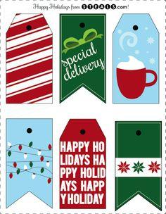 Free Gift Tag Printables for Christmas gifts