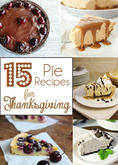 15 Pie Recipes for Thanksgiving