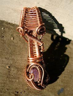 Copper Wrapped // Vera Cruz Amethyst // Wire by Magickwrapper, $45.00