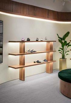 Retail Interior Design, Showroom Design, Boutique Interior, Display Design, Store Design, Steel Sheet Metal, Retail Shop, Metal Furniture, Shelving