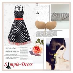 """""""Simple-Dress 9"""" by damira-dlxv ❤ liked on Polyvore featuring vintage"""