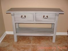 Contemporary Harbor: Annie Sloan Chalk Paint Furniture Makeover