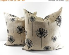 On Sale BEIGE PILLOW cover. 20x20 Black by TwistedBobbinDesigns