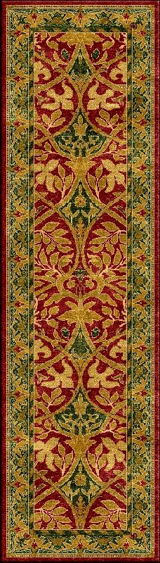 bespoke Morris Runner rug from Hill and Co, UK, Rug Specialists