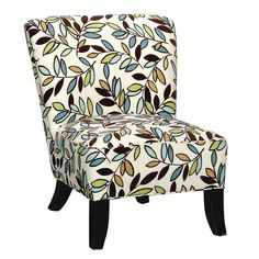 """Nicole 30"""" Floral Upholstered Armless Chair"""