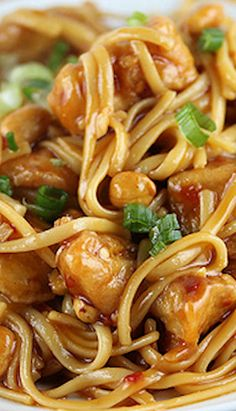 Kung Pao Linguini - use aminos and either gf linguini