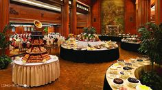 Enjoy a scenic Sunday brunch at the Queen Mary, the Reef, Fuego at Hotel Maya or the Queensview Steakhouse
