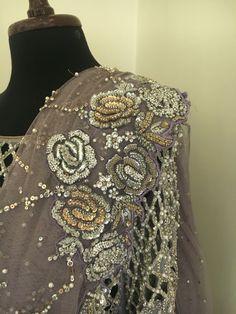 Asifa&Nabeel Embroidery Neck Designs, Cutwork Embroidery, Hand Embroidery Tutorial, Couture Embroidery, Embroidery Dress, Eastern Dresses, Pakistani Fashion Party Wear, Designer Bridal Lehenga, Abaya Designs