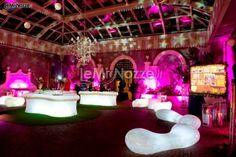 http://www.lemienozze.it/operatori-matrimonio/catering_e_torte_nuziali/allestimenti-matrimoni-roma/media  Wedding ideas: marriage preparation withe neon lights and contemporary furniture.