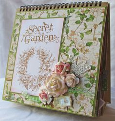 Scraps of Life: Hampton Art and Graphic 45 Secret Garden Mini   must take a peek inside this project