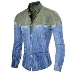 Water Ink Gradient Shirt - Men's wear
