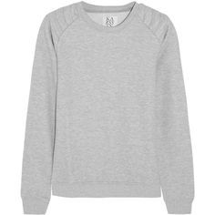 Zoe Karssen Cotton-blend jersey sweatshirt, Size: M (220 BRL) ❤ liked on Polyvore featuring tops, hoodies, sweatshirts, sweaters, shirts, sweatshirt, cotton jersey shirt, quilted top, raglan sleeve top and raglan shirts
