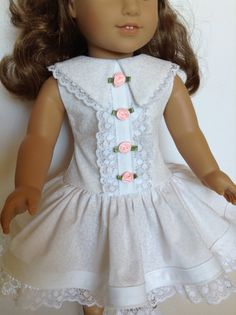 American Girl 18-inch Doll Clothes Little White by HFDollBoutique