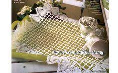 Филейная салфетка с ананасами. Схема