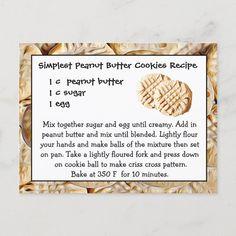 Homemade Peanut Butter Cookies, Butter Cookies Recipe, Peanut Butter Cookie Recipe 3 Ingredient, Cookie Butter, Cookie Recipes, Baking Recipes, Dessert Recipes, Pastries Recipes, Frugal Recipes