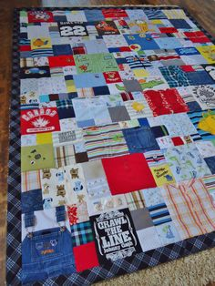 Baby clothes quilt by Lux Keepsake Quilts! :)