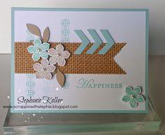 Stampin up petite petals stamp set card.