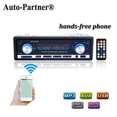 12V Car Radio BLUETOOTH Stereo Audio In-dash FM Receiver Aux Input ReceiverUSB/SD Audio MP3 auto Radio Car in Dash 60Wx4  Phone