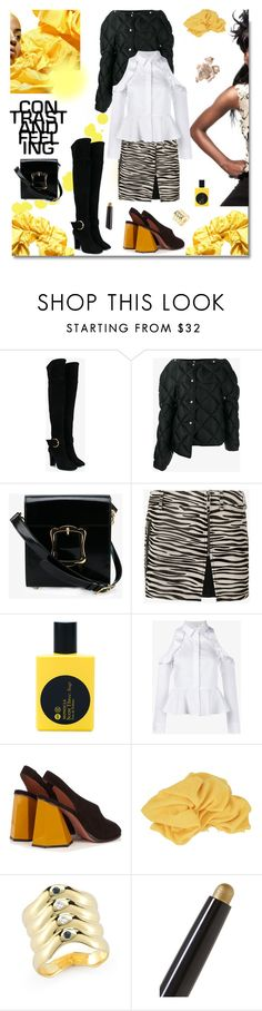"""Rock the Town...."" by sue-mes ❤ liked on Polyvore featuring Giuseppe Zanotti, Acne Studios, Simone Rocha, Filles à papa, Comme des Garçons, Jonathan Simkhai, Sportmax, Gucci, Elizabeth and James and By Terry"