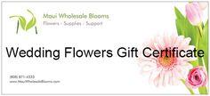 Wedding Flower Gift Certificate $1,000