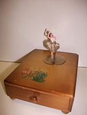 Vintage Musical Jewelry Box with Dancing Ballerina Childrens