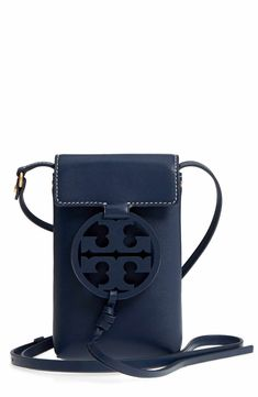 a537bf9cfde Main Image - Tory Burch Miller Leather Phone Crossbody Bag Leather Backpack,  Leather Bags,