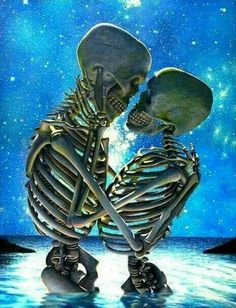 Forever u and me till death do us part Skeleton Love, Skeleton Art, Dark Fantasy Art, Dark Art, Skull Pictures, Skull Artwork, Sugar Skull Art, Sugar Skulls, Skull Wallpaper
