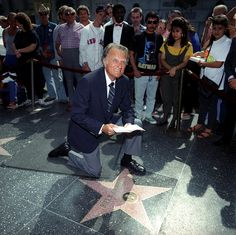 On Oct. 15, 1989, Billy Graham was recognized for his work as a minister with a star on the Hollywood Walk of Fame.