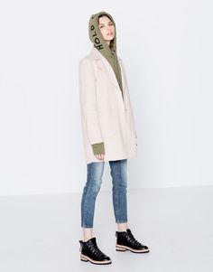 :Handmade lapel coat