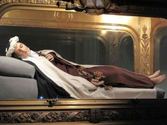 The incorrupt body of St Therese nee Therese de Lisieux    She died at age of 24 of TB in 1897