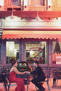 Fun wedding at Universal Studios with Sesame Street characters // Javen and Rhonda's Fresh and Fun Wedding at Resorts World Sentosa