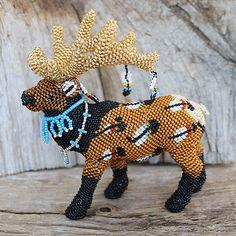 Native American Beadwork Zuni Beaded Elk Denise & Faron Gchachu