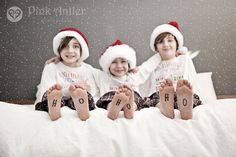 Cute indoor Christmas photo shoot idea.                                                                                                                                                                                 More