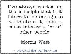 Quotable – Morris West - Writers Write