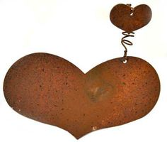Primitive Rusty Tin Heart Candle Tack with Heart - 6 P...      (1 of 3 images)