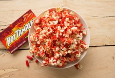 Michelle, this is for you because I know how much you love Hot Tamales! Recipe for Hot Tamales Popcorn!