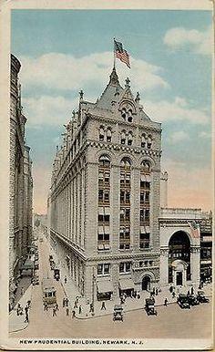 Vintage-Prudential-Building-Newark-New-Jersey-NJ-Postcard