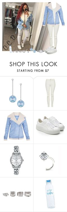 """Aviator Jacket."" by oreocaker ❤ liked on Polyvore featuring Swarovski, SELECTED, Puma, Coach and Forever 21"