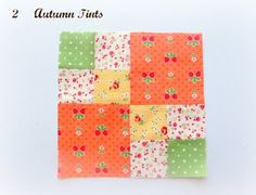 Autumn Tints patchwork block