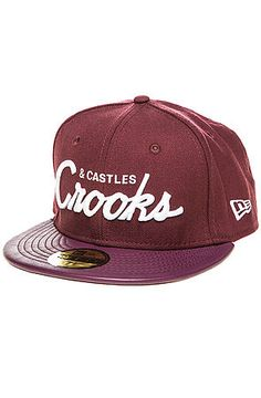 Crooks+and+Castles+The+Crooks+League+Fitted+Hat+in+Burgundy