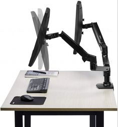 10 best top 10 best dual monitor stands in 2018 reviews images rh pinterest com