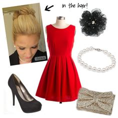 Christmas party look! Dress from Adabelles!
